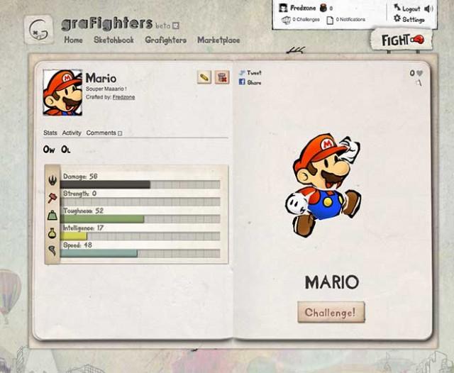 graFighters : dessine ton combattant et affronte d'autres joueurs