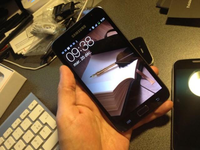 Ice Cream Sandwich sur le Samsung Galaxy Note : c'est en cours !