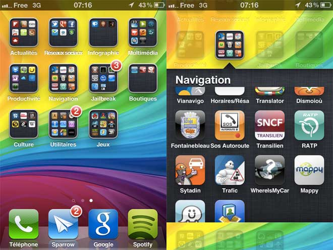 InfiniFolders : plus de 12 applications dans vos dossiers iOS