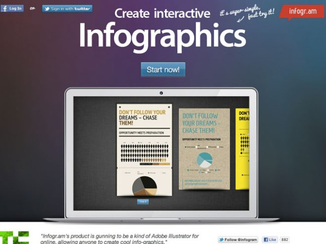 Infogram : créer de beaux graphiques et les exporter sur son site