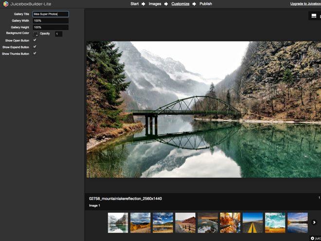 Juicebox : créer et exporter des galeries d'images en HTML5