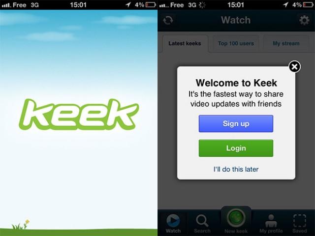 Keek, le Twitter de la vidéo
