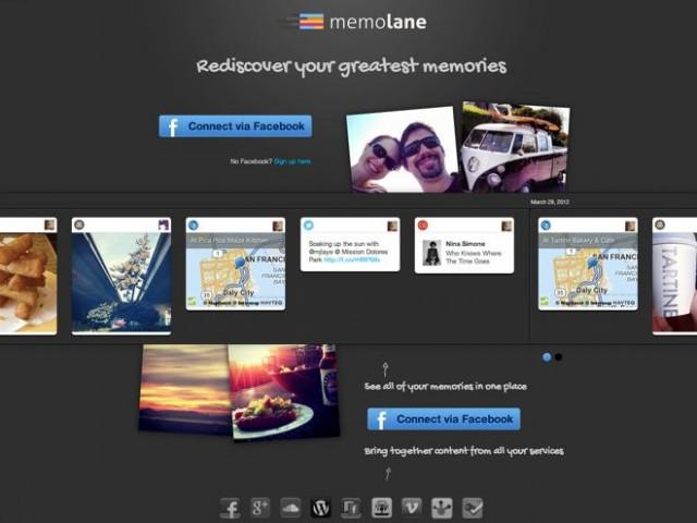Memolane, la chronologie de votre vie numérique