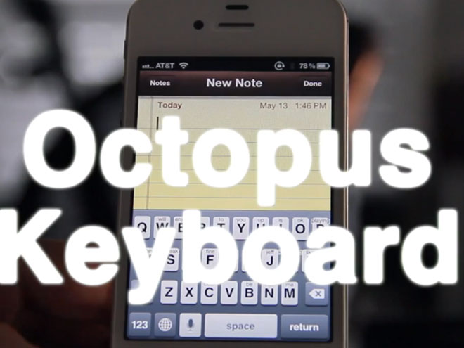 Octopus Keyboard : le clavier virtuel de BlackBerry 10 sur iPhone