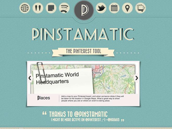 Pinstamatic, pour partager autre chose que des photos sur Pinterest