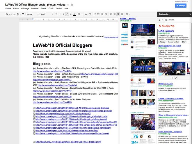 Google Drive : une nouvelle colonne dédiée à la recherche sur le web