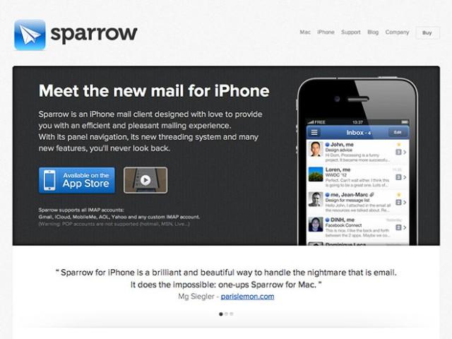 Sparrow iPhone : une nouvelle version et le push à venir