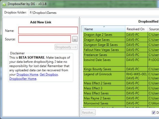 Synchroniser les paramètres de ses jeux et de ses applications avec Dropbox