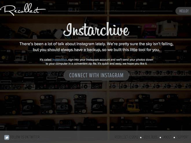 Télécharger ses photos Instagram avec Instarchive