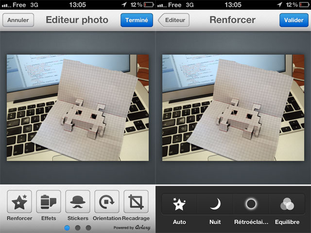 Aviary, un Photoshop light pour iOS et Android