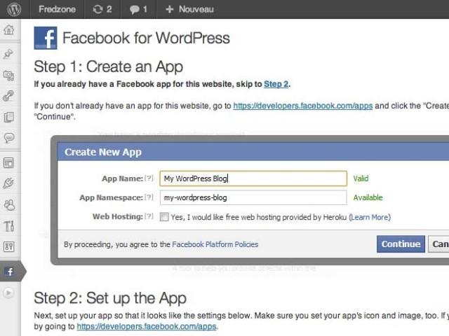 Facebook : une extension pour WordPress