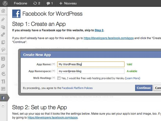 Facebook : une extension pour Wordpress