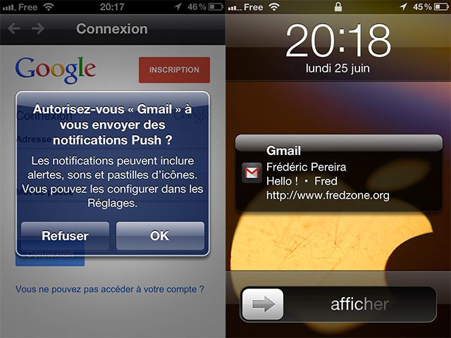 Gmail pour iOS : arrivée des notifications !
