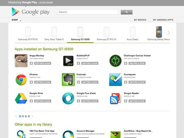 Google Play : suppression et mise à jour des applications depuis le service