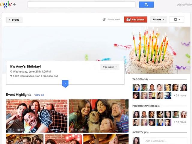Google+ : débarquement (allié) sur les tablettes et intégration des évènements !