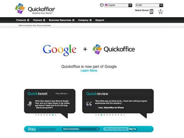 Google rachète QuickOffice