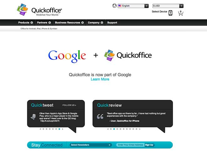 Google rachète QuickOffice