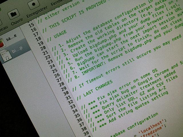 Importer un gros fichier SQL dans MySQL via PHPMyAdmin
