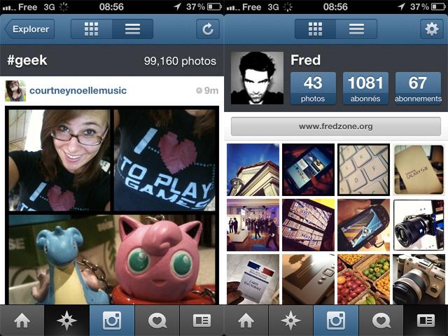 Instagram pour iOS : intégration d'un module d'exploration