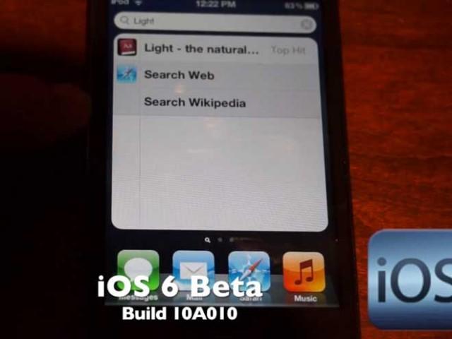 Des vidéos d'iOS 6 Bêta, vraiment ?