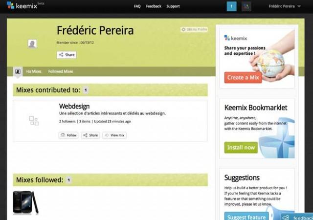 Keemix : la curation efficace et complète (+ invitations)