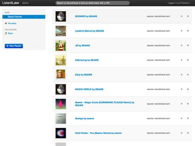 ListenItLater, comme ReadItLater mais pour la musique en streaming
