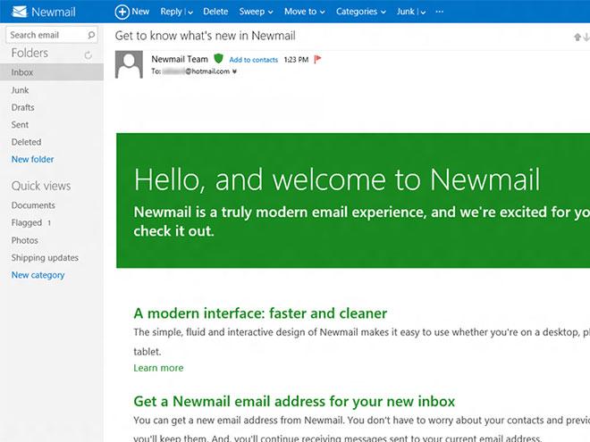 Newmail : les premières captures de Hotmail Metro ?