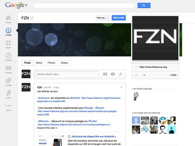 Google+ : quelques petites nouveautés sympathiques