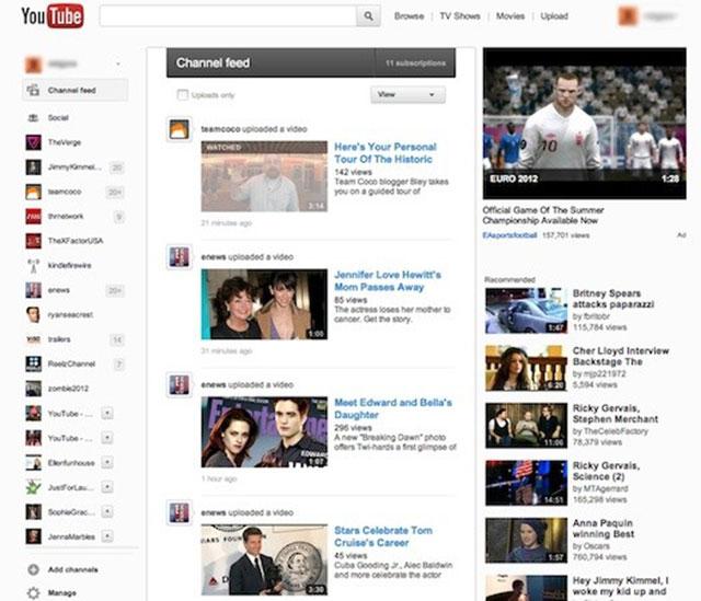 YouTube : une nouvelle interface en cours de déploiement