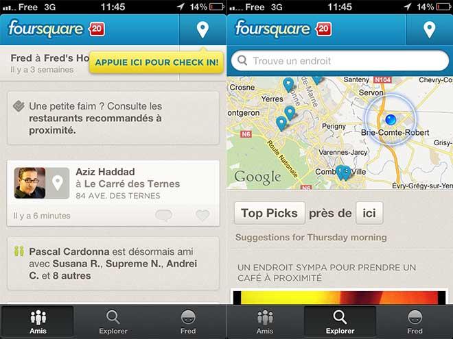 Foursquare 5.0 : le plein de nouveautés