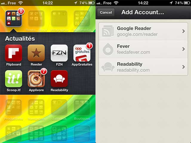 Reeder iPhone : une nouvelle version !