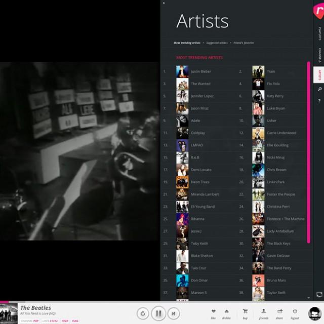 Rockify.tv, une façon intelligente de consommer les clips musicaux du web