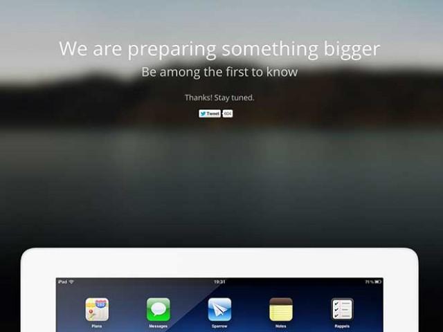 Sparrow iPad : c'est en cours