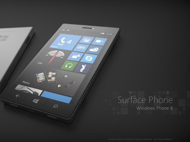 Un concept de smartphone Microsoft sous Windows Phone 8