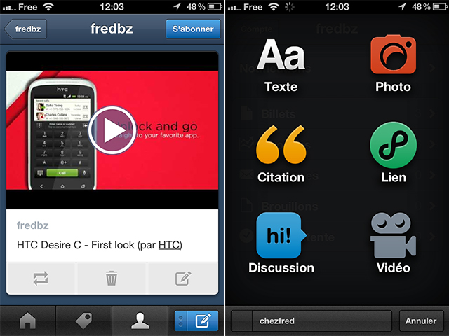 Tumblr : une nouvelle version sur iPhone