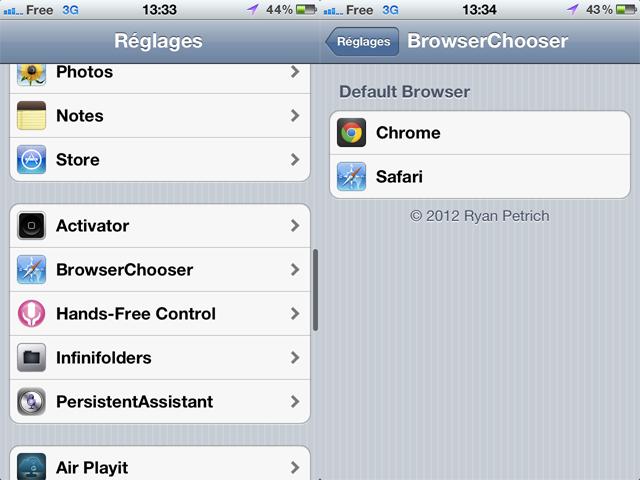 Utiliser Chrome comme navigateur par défaut sur iPhone et iPad