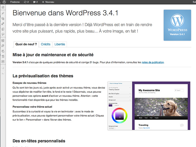 Wordpress 3.4.1 est disponible !