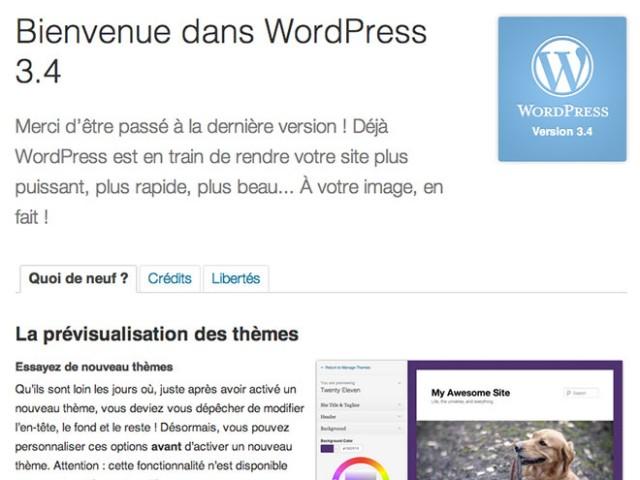 Wordpress 3.4