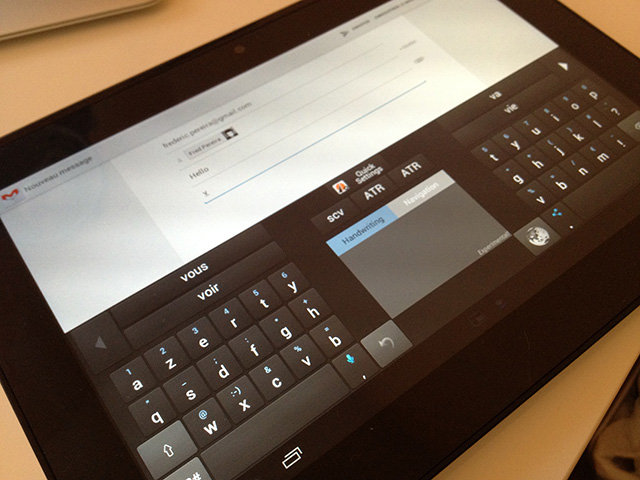 Adaptxt Tablet Beta : un clavier virtuel complet pour tablette Android