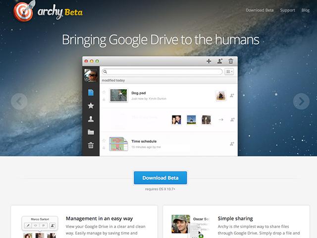 Archy, client alternatif pour Google Drive