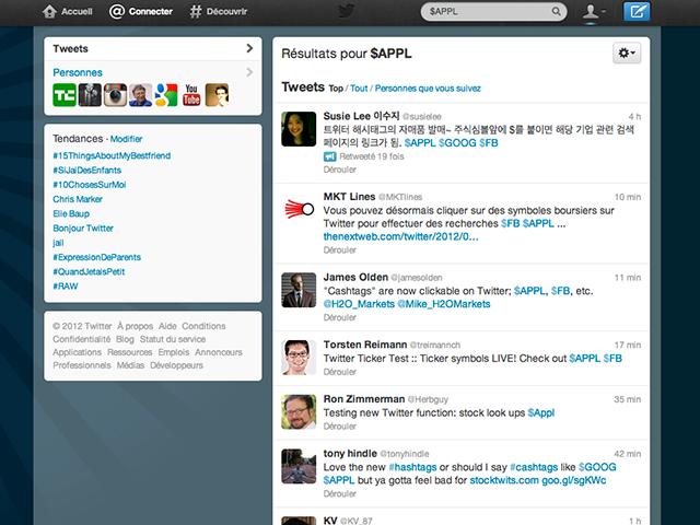 Twitter : arrivée des cashtags, pour les actions boursières
