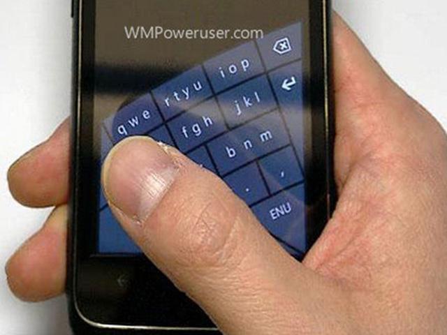 Microsoft serait en train de tester un clavier incurvé pour Windows Phone