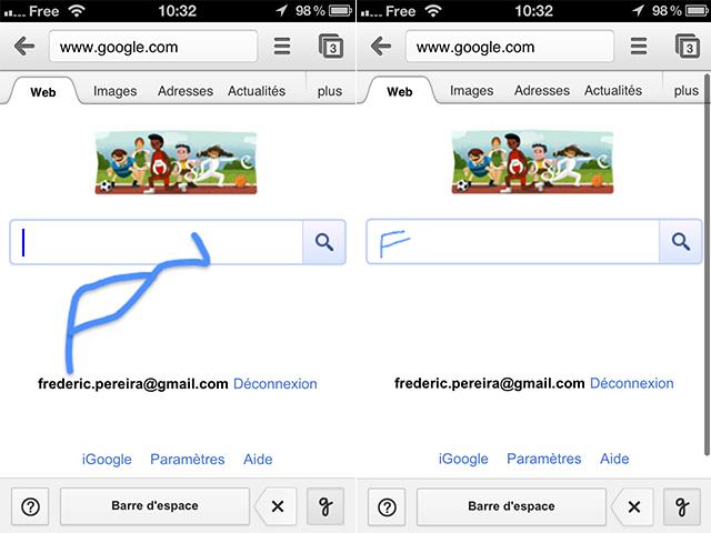 Google : l'écriture manuscrite débarque sur mobile et sur tablette
