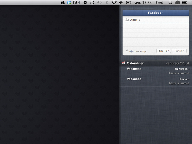 Intégrer Facebook à OS X Mountain Lion