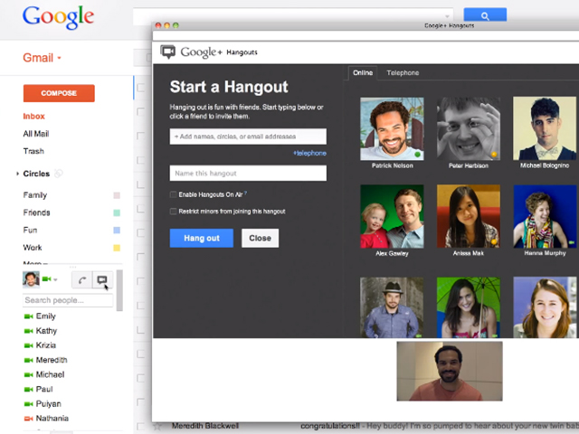 Google Hangout bientôt dans ton Gmail !