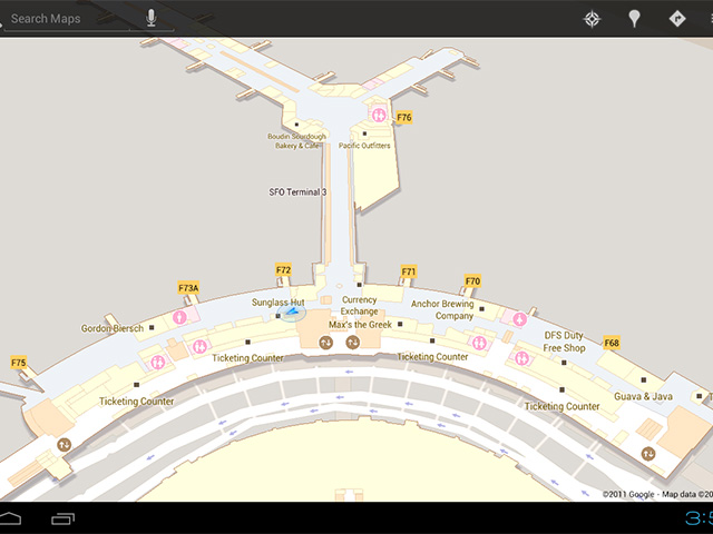 Google Maps Indoor disponible au Royaume-Uni !