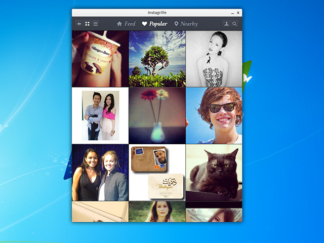 Instagram sur Windows avec Instagrille