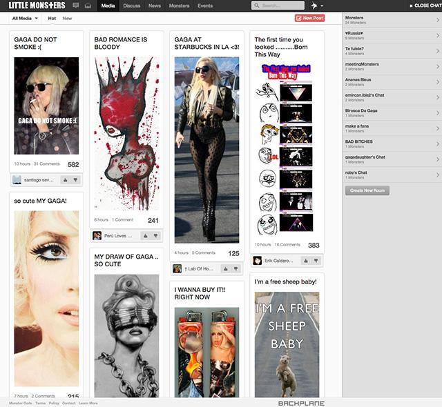 Little Monsters, le réseau social de Lady Gaga, est ouvert à tous !