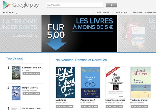 Les livres sont arrivés sur Google Play