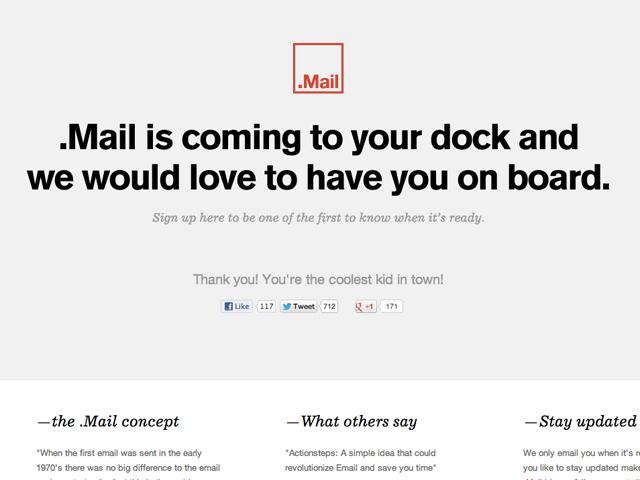 .Mail bientôt disponible sur Mac OS !